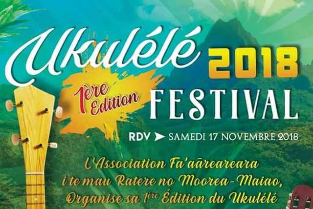 premier concours de Ukulele Moorea 2018